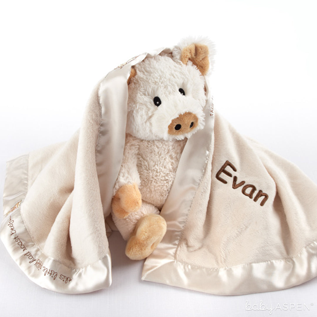 Pig in a Blanket two-piece gift set| Baby Aspen | Best Gifts for a Winter Baby Shower