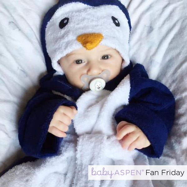 Penguin Hooded Spa Robe Baby Aspen Fan Photo by @_prince_and_princess__ via Instagram