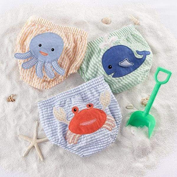 Beach Bums 3-Piece Diaper Cover Gift Set (0-6 or 6-12 Months) - Medium - Diaper Covers