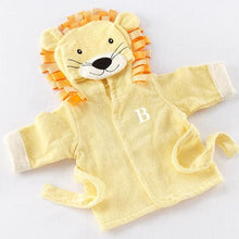 Load image into Gallery viewer, Big Top Bath Time Lion Hooded Spa Robe (Personalization Available) - Robes