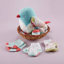 Load image into Gallery viewer, Bitsy Bluebird Plush Plus Bird with Socks for Baby to Wear - Baby Gift Sets