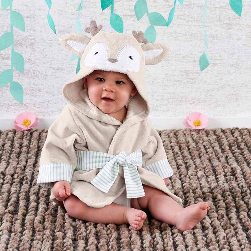 Deer Hooded Robe (Personalization Available) - Robes