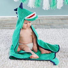 Load image into Gallery viewer, Dino Baby T-Rex Hooded Towel - Hooded Towels