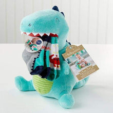 Load image into Gallery viewer, Doug the Dinosaur Plush Plus Socks for Baby - Baby Gift Sets