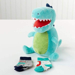 Doug the Dinosaur Plush Plus Socks for Baby - Baby Gift Sets