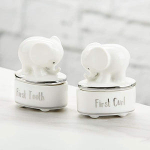 Little Peanut Ceramic Tooth & Curl Keepsake Set - Baby Gift Sets
