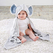 Load image into Gallery viewer, Little Peanut Elephant Hooded Blanket - Lovies