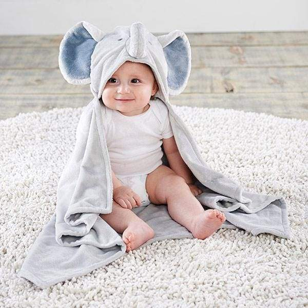 Little Peanut Elephant Hooded Blanket - Lovies