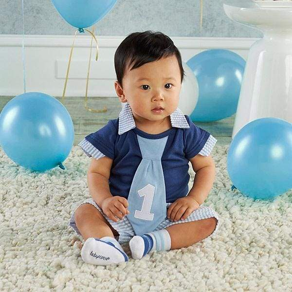 My First Birthday Little Fella Outfit - Boy - Baby Gift Sets
