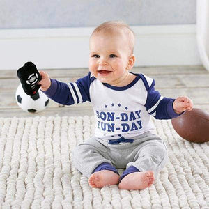 My First Gameday 2-Piece Outfit with Rattle (0-6 mos) - Baby Gift Sets