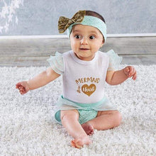 Load image into Gallery viewer, My First Mermaid Outfit with Headband (0-6 Months) - Baby Gift Sets