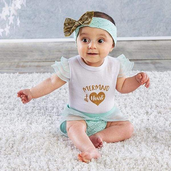 My First Mermaid Outfit with Headband (0-6 Months) - Baby Gift Sets