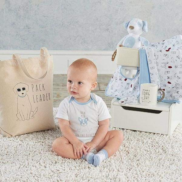 New Pup 9-Piece Baby Gift Basket (Personalization Available) - Baby Gift Sets