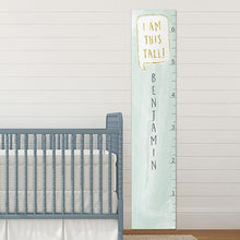 Load image into Gallery viewer, Personalized I Am This Tall Mint Growth Chart - Growth Chart