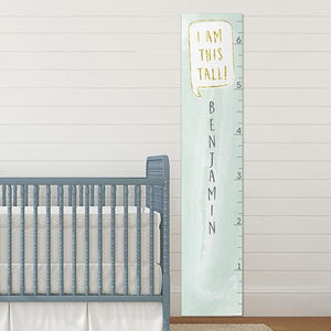 Personalized I Am This Tall Mint Growth Chart - Growth Chart