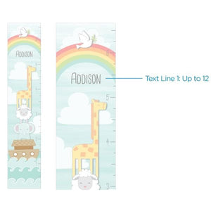 Personalized Noahs Ark Growth Chart - Growth Chart
