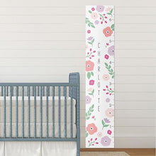 Load image into Gallery viewer, Personalized Pretty Posies Growth Chart - Growth Chart