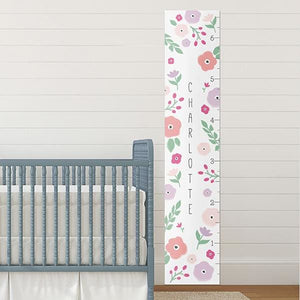 Personalized Pretty Posies Growth Chart - Growth Chart