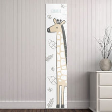 Load image into Gallery viewer, Personalized Safari Giraffe Growth Chart - Growth Chart