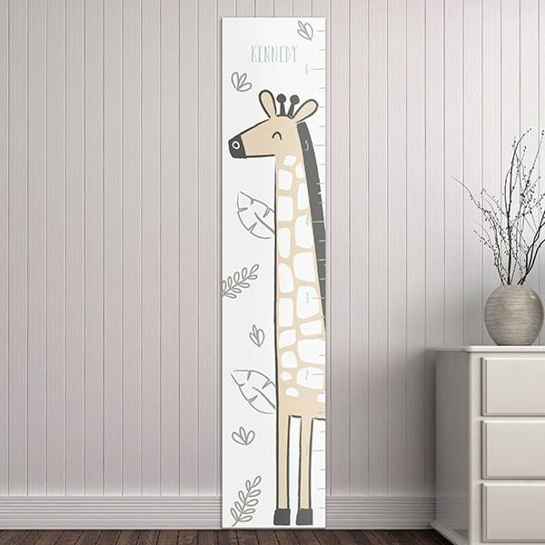 Personalized Safari Giraffe Growth Chart - Growth Chart