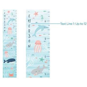Personalized Under The Sea Growth Chart - Growth Chart