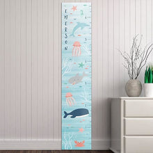 Load image into Gallery viewer, Personalized Under The Sea Growth Chart - Growth Chart
