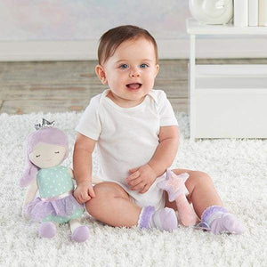Phoebe the Fairy Princess Plush Plus Rattle and Socks for Baby - Baby Gift Sets
