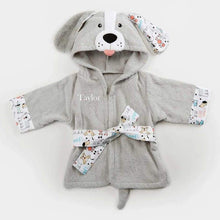Load image into Gallery viewer, Puppy Hooded Robe (Personalization Available) - Robes
