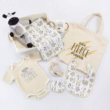 Load image into Gallery viewer, Safari 9-Piece Baby Gift Basket (Personalization Available) - Baby Gift Sets