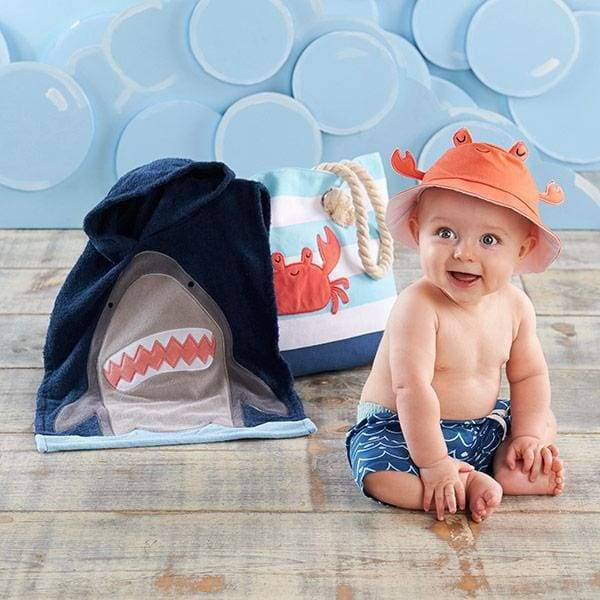 Shark 4-Piece Beach Gift Set with Canvas Tote for Mom - Baby Gift Sets