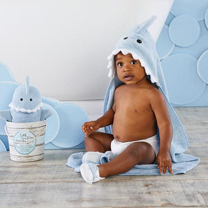 Shark Baby 6-Piece Gift Set Bundle - Blue - Baby Gift Sets
