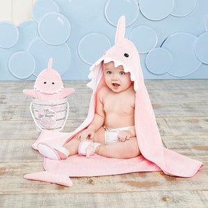 Shark Baby 6-Piece Gift Set Bundle - Pink - Baby Gift Sets