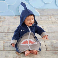 Load image into Gallery viewer, Shark Hooded Beach Zip Up (Personalization Available) - Beach Zip Up