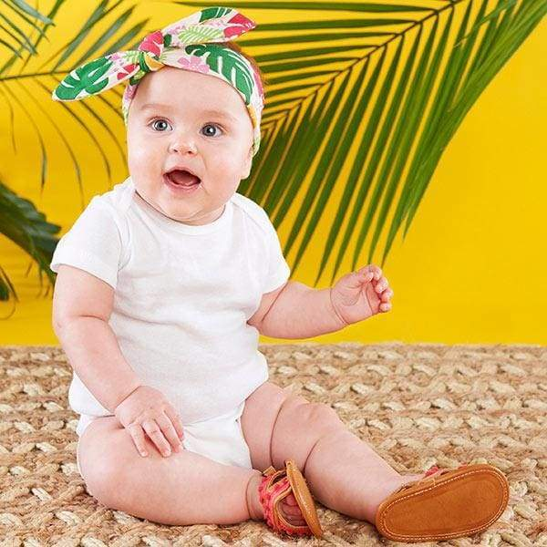 Tropical Headband and Flip Flop Gift Set - Baby Gift Sets