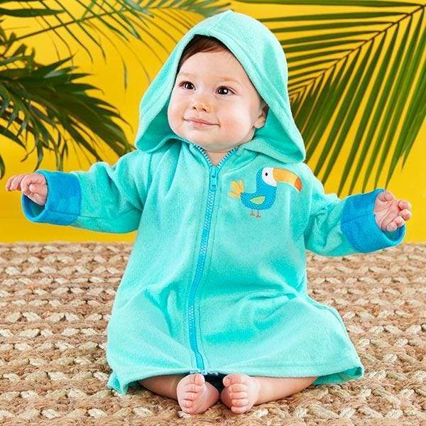 Tropical Toucan Hooded Beach Zip Up (Personalization Available) - Beach Zip Up