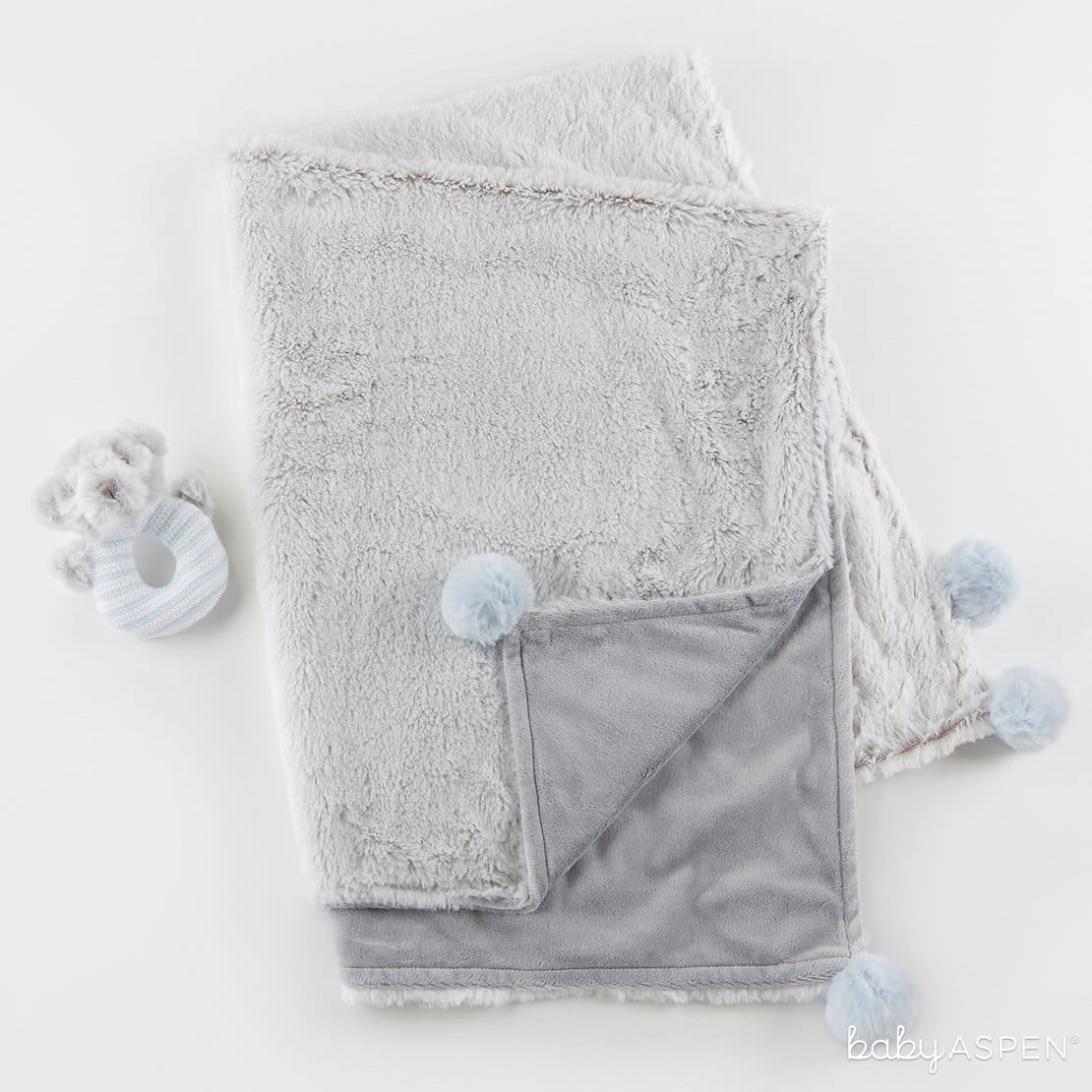 Luxury Baby Blanket & Rattle Gift Set