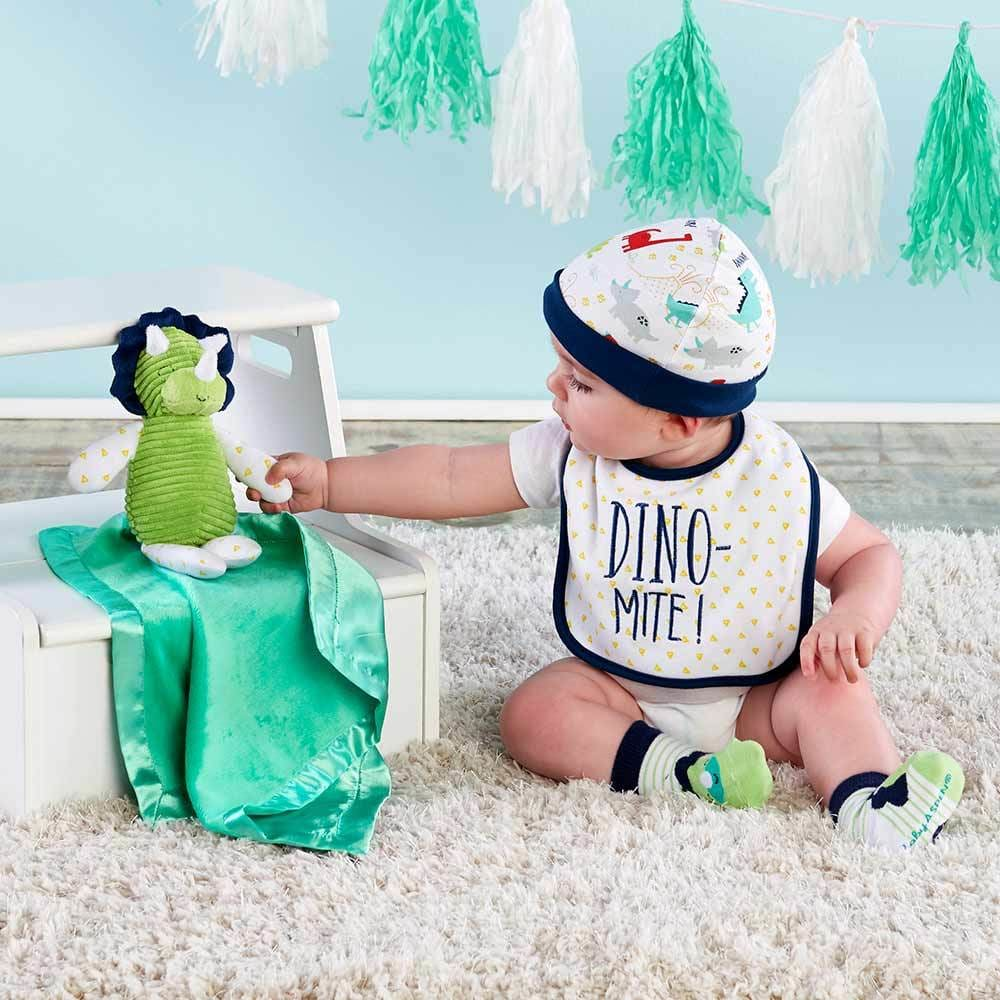5 Piece Welcome Home Set | 6 Dino Mite Gifts for Your Dino Obsessed Baby | Baby Aspen