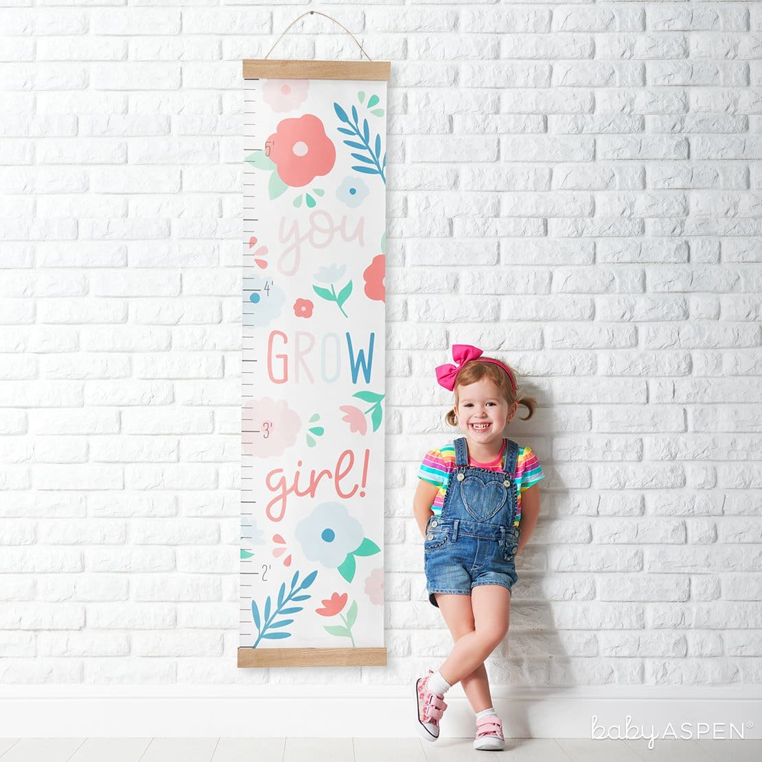 | 7 Easy Room Decor From Baby to Toddler | Baby AspenYou Grow Girl Growth Chart