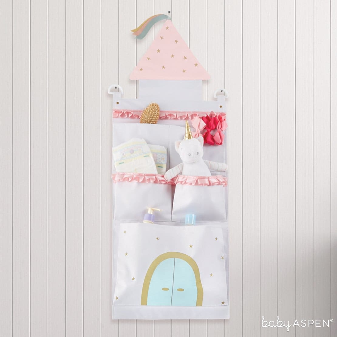 Simply Enchanted Castle Wall Organizer | 7 Easy Room Decor From Baby to Toddler | Baby Aspen
