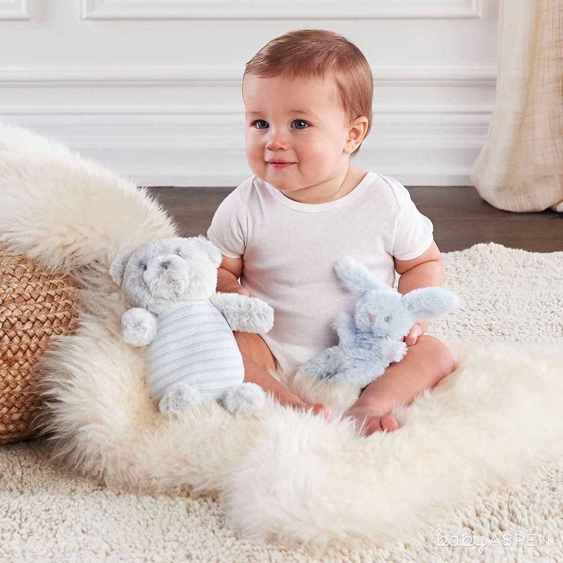 Luxury Baby Bear Plush Rattle Baby | 7 Easy Room Decor From Baby to Toddler | Baby Aspen