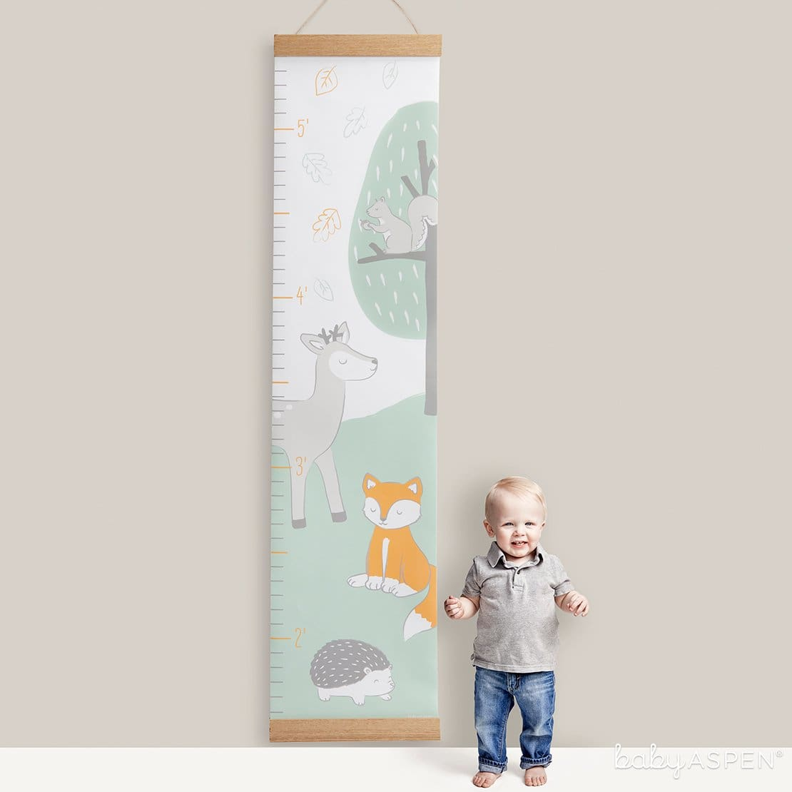 Woodland Hanging Growth | Loveable Growth Charts for Your Little One | Baby Aspen