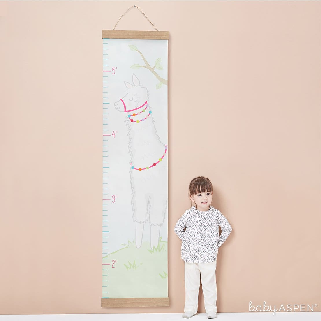 Llama Hanging Growth Chart | Loveable Growth Charts for Your Little One | Baby Aspen