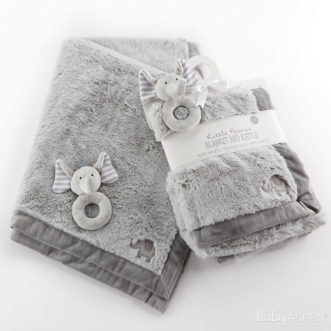 Little Peanut Elephant Blanket &Rattle Set