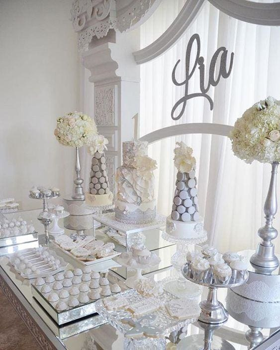 Winter Wonderland Baby Shower: White and Silver