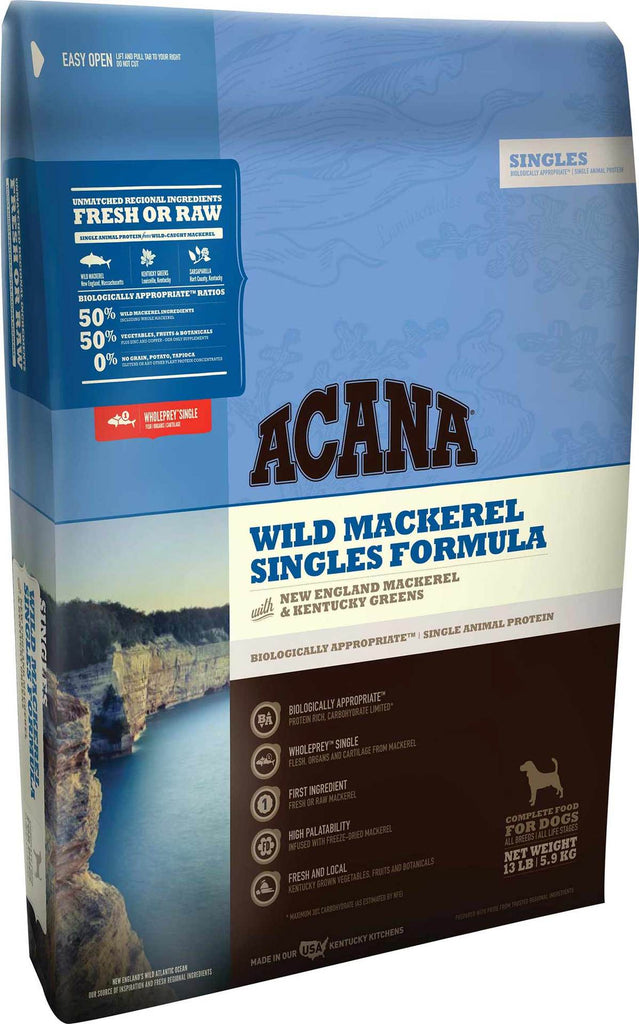 Acana Dry Dog Food Singles Wild Mackerel for Dog 25lb