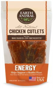 Earth Animal Dog Treat ENERGY Chicken Jerky 8oz