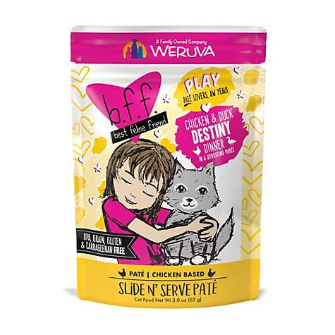 BFF Cat Play Destiny Chicken & Duck 3oz Pouch