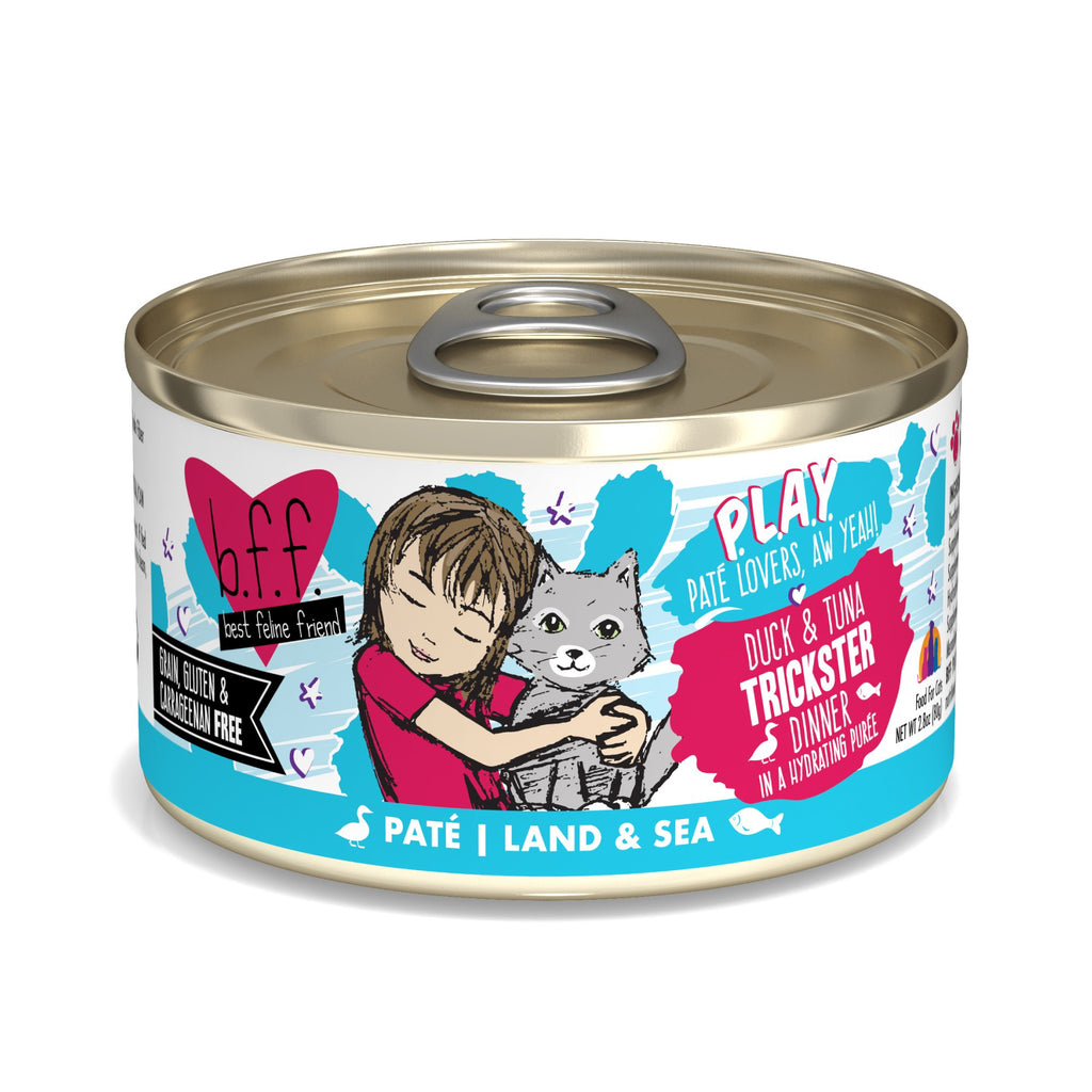 BFF Cat Play Trickster Duck & Tuna 2.8oz