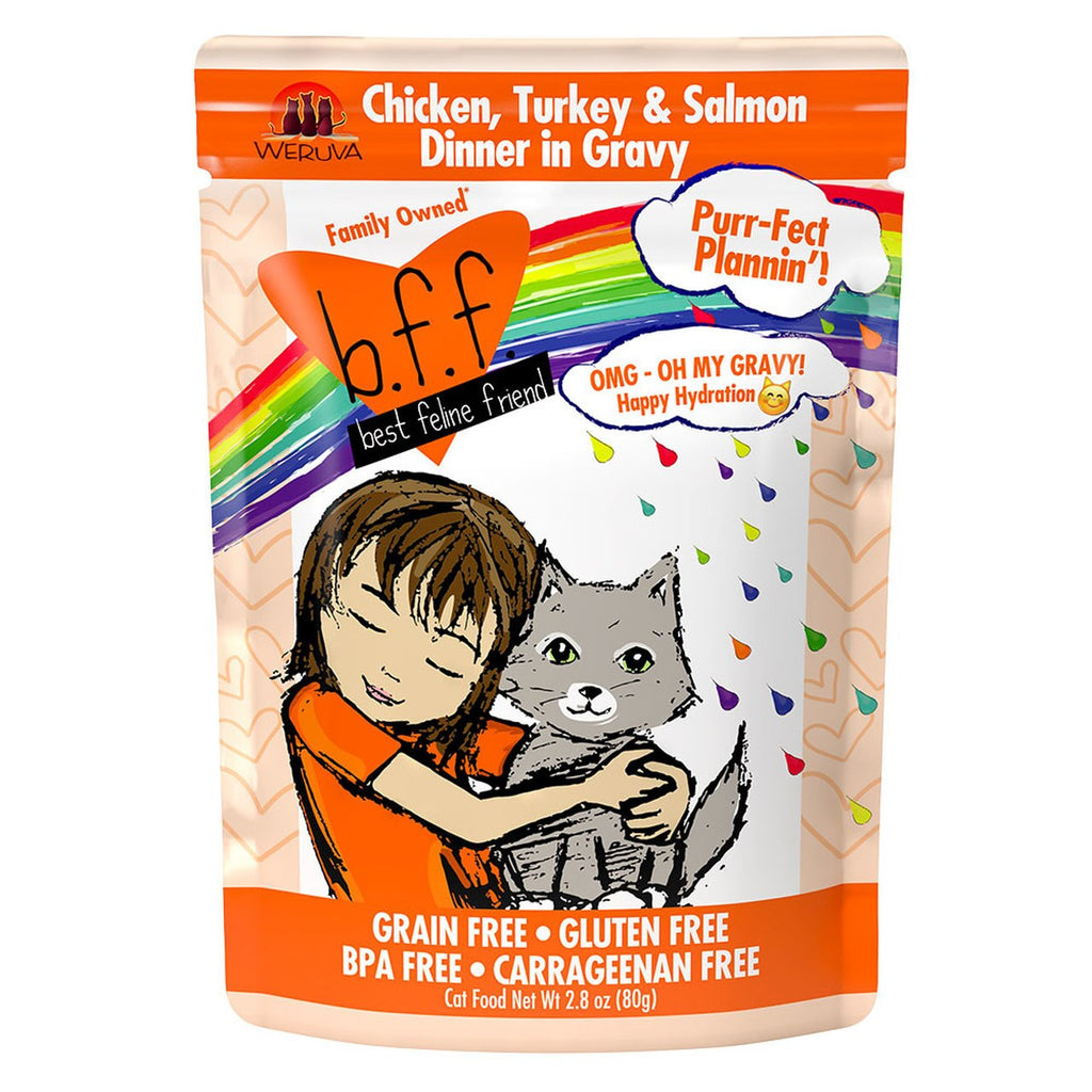 BFF OMG Purrfect Plannin' Chicken, Turkey & Salmon 2.8oz Pouch