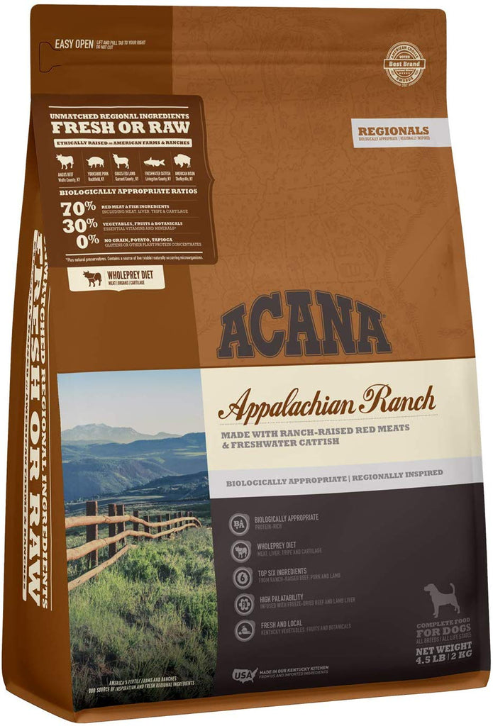 Acana Dry Dog Food Appalachian Ranch 4.5lb